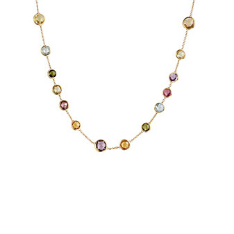 """Marco Bicego 18K Yellow Gold Jaipur Multicolor Variety Necklace, 17"""""""