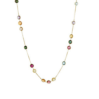 Marco Bicego 18K Yellow Gold Jaipur Multicolor Variety Necklace, 36""