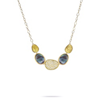 """marco_bicego_18k_yellow_gold_black_mother_of_pearl_&_diamond_pave_station_lunaria_necklace,_18"""""""