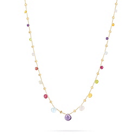 Marco_Bicego_18K_Yellow_Gold_&_Mixed_Stone_Paradise_Necklace,_16.5""