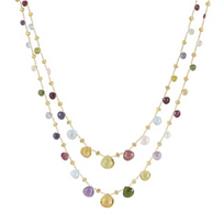 Marco_Bicego_18K_Yellow_Gold_&_Mixed_Stone_Paradise_Necklace,_36""