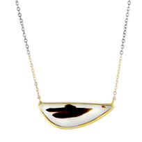 Melissa_Joy_Manning_14K_Yellow_Gold_&_Oxidized_Sterling_Silver_Brown/White_Agate_Necklace