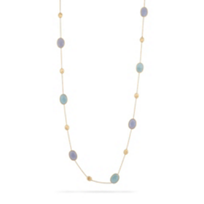 Marco_Bicego_18K_Yellow_Gold_Siviglia_Chalcedony_&_Aquamarine_Necklace,_36""