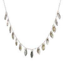 """melissa_joy_manning_14k_yellow_gold_marquise_labradorite_drop_fringe_necklace,_18"""""""