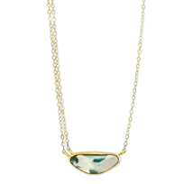 Melissa_Joy_Manning_14K_Yellow_Gold_Chrysocolla_Necklace,_18""