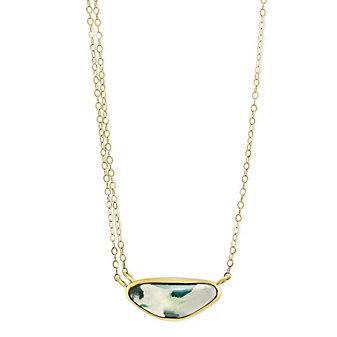 "Melissa Joy Manning 14K Yellow Gold Chrysocolla Necklace, 18"""