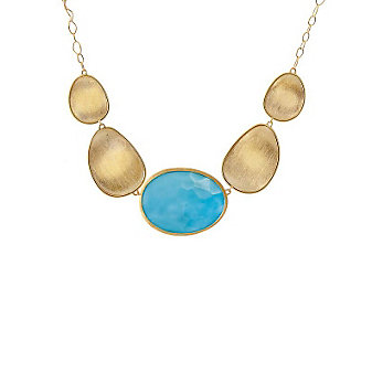 Marco Bicego 18K Yellow Gold Turquoise Lunaria Necklace