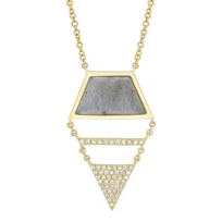 14K_Yellow_Gold_Labradorite_and_Diamond_Geometric_Necklace,_18""