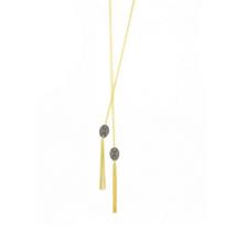 "freida_rothman_yellow_stone_sterling_silver_&_black_rhodium_pave_oval_disc_tassel_necklace,_36"""