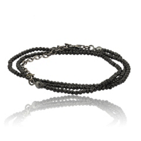 lika_behar_oxidized_sterling_silver_black_spinel_bead_necklace,_18""