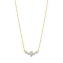 freida_rothman_yellow_tone_sterling_silver_clover_cluster_necklace,_18""
