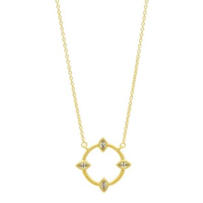 freida rothman amazonian allure open pendant necklace
