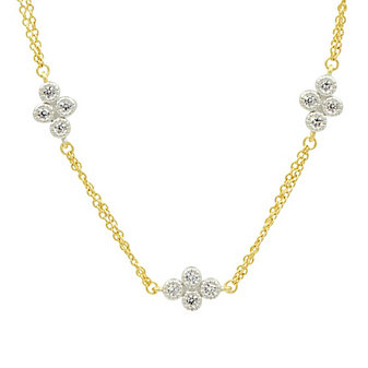freida rothman visionary fusion double strand clover station necklace