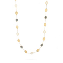 """marco_bicego_18k_yellow_gold_black_&_white_mother_of_pearl_lunaria_station_necklace,_36"""""""