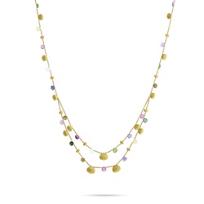 "marco_bicego_18k_yellow_gold_multi_stone_double_row_paradise_necklace,_16"""