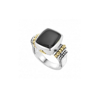 lagos_sterling_silver_&_18k_yellow_gold_onyx_caviar_color_large_ring