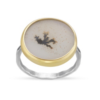 Melissa_Joy_Manning_14K_Yellow_Gold_and_Sterling_Silver_Round_Dendritic_Agate_Ring