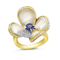 18K_Yellow_&_White_Gold_Sapphire,_Mother_of_Pearl_&_Diamond_Ring
