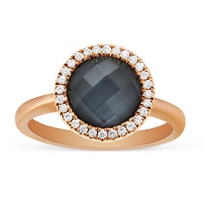 18K_Rose_Gold_Round_Clear_Quartz_&_Hematite_Doublet_Ring_With_Diamond_Accents