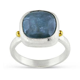 Gurhan Lentil Hue Cabochon Aquamarine Ring