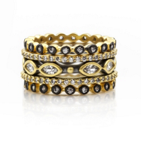 Freida_Rothman_Sterling_Silver_Marquise_Beaded_Set_of_5_Eternity_Rings,_Size_7