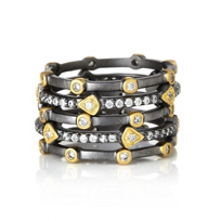 Freida_Rothman_Sterling_Silver_&_Black_Rhodium_Mixed_Stackable_Set_of_5_Rings,_Size_8