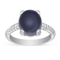14K_White_Gold_Oval_Cabochon_Moonstone_and_Round_Diamond_Ring