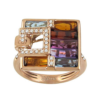 Bellarri 14K Rose Gold Multi Stone And Diamond Boulevard Ring