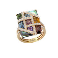 Bellarri_14K_Rose_Gold_Multi_Stone_And_Diamond_Mosaic_Nouveaux_Ring