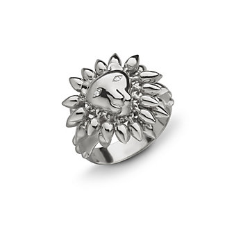 Monica Rich Kosann Sterling Silver Courage Lion Ring