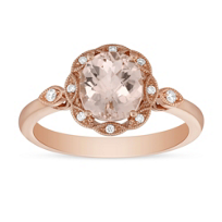 14K_Rose_Gold_Oval_Checkerboard_Morganite_and_Round_Diamond_Milgrain_Ring