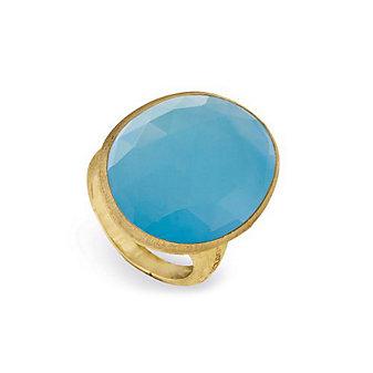 Marco Bicego 18K Yellow Gold Turquoise Lunaria Ring