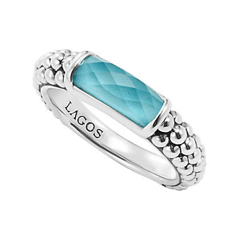 Lagos Maya Turquoise Stacking Ring