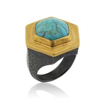 lika_behar_pompei_hexagon_turquoise_ring