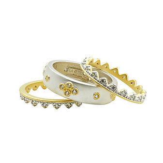 freida rothman visionary fusion crown stack (set of 3) rings
