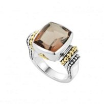 lagos_sterling_silver_&_18k_yellow_gold_caviar_color_smoky_quartz_large_ring