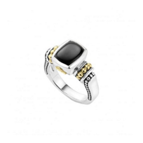 lagos_sterling_silver_&_18k_yellow_gold_onyx_caviar_color_ring