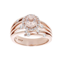 14k_rose_gold_round_morganite_&_diamond_halo_ring_with_4_row_split_shoulders