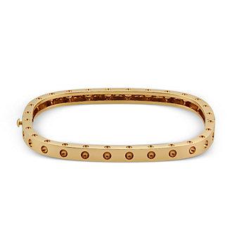 Roberto Coin 18K Rose Gold Pois Moi Single Row Bangle Bracelet