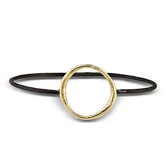 Robin Haley 14K Yellow Gold & Sterling Silver Circle Bangle Bracelet