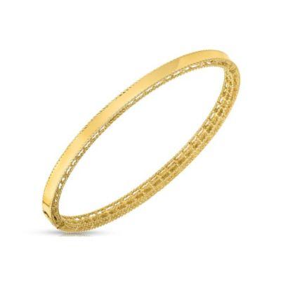 Roberto Coin 18K Yellow Gold Symphony Braided Edge Bangle Bracelet