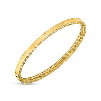 Roberto Coin 18K Yellow Gold Symphony Braided Edge Bangle Bracelet