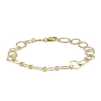 14K_Yellow_Gold_Oval_and_Circle_Link_Bracelet
