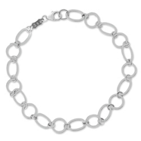 14K_White_Gold_Flat_Oval_and_Circle_Link_Bracelet,_7.5""