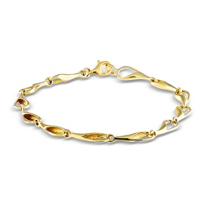 14K_Yellow_Gold_Needle's_Eye_Link_Bracelet