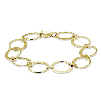 Toby Pomeroy 14K Yellow Gold Eclipse Link Bracelet, 7""