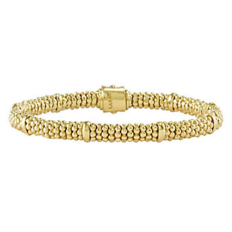 Lagos 18K Yellow Gold Caviar Gold Beaded Bracelet