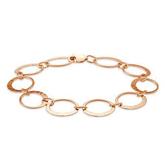 """Toby Pomeroy 14K Rose Gold Eclipse Link Matte Bracelet, 7"""""""