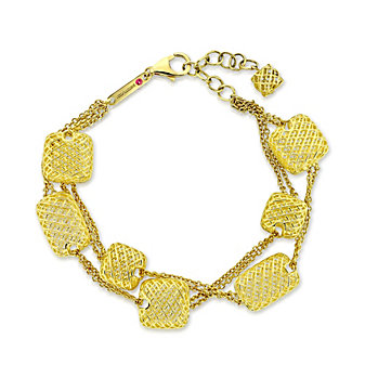 Roberto Coin 18K Yellow Gold Silk Two Strand Stations Bracelet