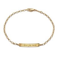 """Monica_Rich_Kosann_18K_Yellow_Gold_""""I_Love_You_More""""_Poesy_Bracelet"""